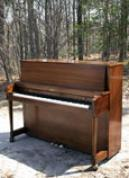 (SOLD) Baldwin Hamilton Studio Upright Piano 1980 Walnut Like New!