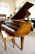 (SOLD)Cable & Sons 5' Baby Grand  Sonny plays