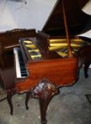 (SOLD) Gorgeous Art Case Fisher Grand Piano 5'6