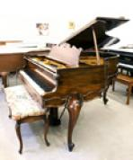 (SOLD Congratulations Carol & Bill) King Louie Art Case Hardman Baby Grand Piano 5'  Gorgeous Mahogany Excellent! $4900.