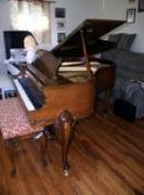 (SOLD)  Congratulations  Mike, Julie & Kids! Art Case Hardman Baby Grand Cabriolet Legs  (SEE VIDEO) Sonny Plays Bluesy  D Minor Improvisation!