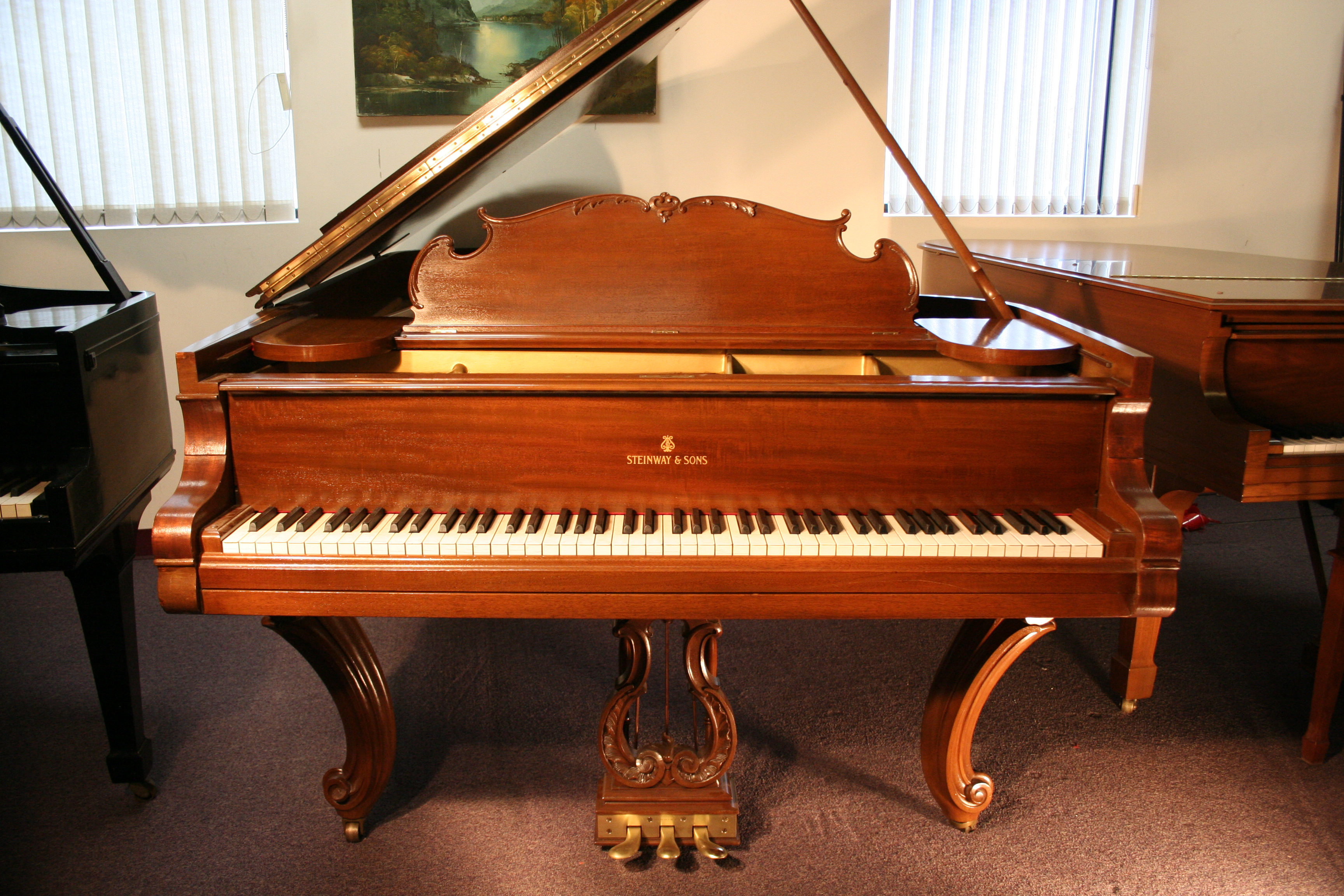(SOLD) Art Case Steinway B Grand Piano King Louis XVI Style Rebuilt
