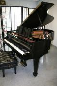 (SOLD)Steinway Grand Piano Model M 1998 Ebony with State of The  Art QRS Player System