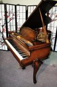 (SOLD)Art Case Sohmer Baby Grand Mahogany 'Primrose Model' 5'