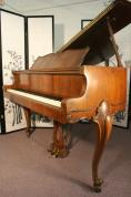 (SOLD)Art Case King Louie Harrington Baby Grand Piano, pretty walnut.   HOLIDAY SPECIAL FREE DELIVERY!