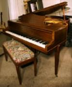 (SOLD)Knabe Baby Grand Art Deco Symetrigrand Reblt/Refin. (SEE VIDEO) $4900.