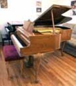 (SOLD) Art Case Knabe Baby Grand Pretty Walnut Queen Anne Leg 5'2