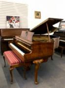 (SOLD) Knabe Walnut Baby Grand  Gorgeous Art Case 5'3