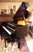 (SOLD)Victorian Style Art Case Ebony Gloss Grand Piano Otto Altenberg