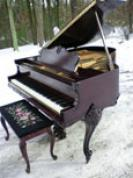 (SOLD)Art Case Weser Brothers Piano 5'1