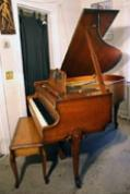 (SOLD)Art Case Sohmer Baby Grand Piano French Leg, 5'1