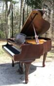 (SOLD) Chippendale Art Case Young Chang Baby Grand Piano Like New!