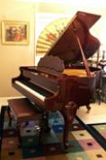 (SOLD) Player Piano - Art Case Baby Grand Cherry Mahogany Queen Anne Legs