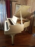 (SOLD )Baldwin White Gloss Baby Grand Model M 5'2