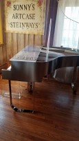 Transparent Plexiglass Custom Sterling Baby Grand Art Case Piano $9500.