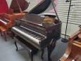 Art Case Baby Grand Piano w/ Queen Anne Legs Chocolate Mahogany Gloss   Baby Grand