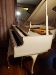 Kimball Art Case  Ivory Baby Grand w/Gold Trim and Bosendorfer Design Aspects 5' custom Hand Painted  $4900