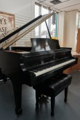 (SOLD)Steinway Grand Piano 1982 Model M Satin Ebony 5'7