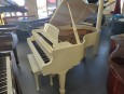 SAMICK HIGH GLOSS IVORY/WHITE GRAND PIANO 1987  5'8