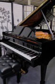 STEINWAY M 2013 RARE EBONY GLOSS W/QRS PNOMATION PLAYER SYSTEM