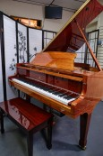 Story & Clark Baby Grand w/CD Player System 2002 Mahogany By Sonny's Pianos & Piano Yoga $6500.