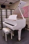 White Gloss Story & Clark Baby Grand CD Player Piano $7500.