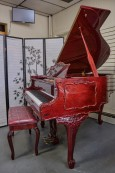 Gorgeous Art Case Samick/Hyundai Player Piano, Red Mahogany, Queen Anne Style $7500.