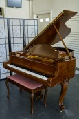 STEINWAY M KING LOUIS XV STYLE NEW TOTAL REBUILD, WALNUT $25,000.