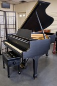 Steinway M 1962, Custom Black Matte, Shabby Chic 1962 Excellent Condition, Just Refinished and restored  $17950