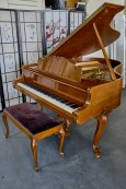 Steinway M King Louis XV Walnut 1967 Pristine, Rich Tone, Art Case $22,000.