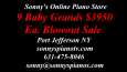 SONNY'S PRE-OWNED PIANOS SUMMER CLEARANCE SALE!