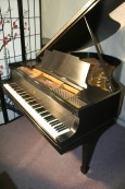 (SOLD)Steinway Model M  Ebony/Black 1924 (VIDEO) Just Refinished Beautiful!