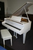 White Gloss Baby Grand D.H. Baldwin 1998 (Video) $3950.