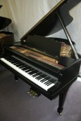 Used Steinway Piano M, Ebony Steinway for sale, Brand new finish June 2013,  beautifully restored used Steinway  (VIDEO)  $15,500.