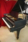 Steinway L Grand Piano Brand New Satin Ebony Finish, Original Steinway Parts $17,500.
