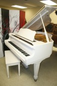White Gloss Young Chang Grand Piano 1989 Excellent, Pristine $4500.