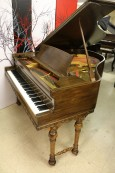 (SOLD) Art Case Baby Grand Mediterranean Style by Estey Reblt/Refin (SOLD)