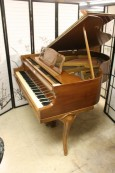 Art Case Baby Grand Kranich and Bach Walnut Piano (SOLD)