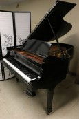 Ebony Black Steinway M Piano 5'7