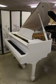 Ivory White Gloss Otto Altenburg Baby Grand (VIDEO)  5' 1990 $4,500.