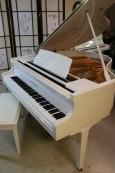 White Gloss Baby Grand Piano Kohler & Campbell  by Samick 4'8