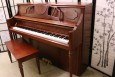 Falcone Art Case Upright Piano Gorgeous Burled Walnut Inlays 1997 $1700.