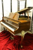 (SOLD)Wurlitzer Baby Grand Piano Refin./Refurbished  10/2015 Gorgeous Art Case