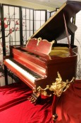 Luxury Piano Wurlitzer Baby Grand Piano Gorgeous Art Case Refin./Refurbished