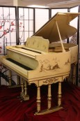 Chinoiserie Piano by Stroud  Luxury Art Case  Baby Grand  with  Hand Painted Landscape Scenes Restored