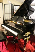 Vose Art Case Grand Piano Hand Painted Gold Trim Refinished & Rebuilt 5'7