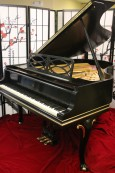 Art Case  Steinway M Chippendale Style, Rebuilt/ Refinished Satin Ebony, Gold Tim,  $19,500.