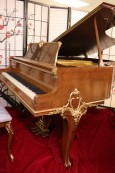 Knabe Piano Baby Grand King Louis XV  Art Case  Gorgeous Walnut Gold Trim $8500.