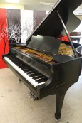 (SOLD)  SPECIAL OF THE WEEK!  Steinway M Piano Satin Ebony 5'7