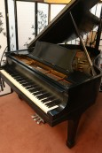 (SOLD) Steinway O Grand Piano, Refinished Satin Ebony, New Steinway Hammers,